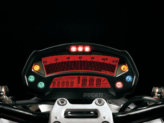 imagem foto moto ducati monster 696 visor lcd