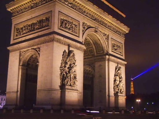imagem foto arco do triunfo paris frança